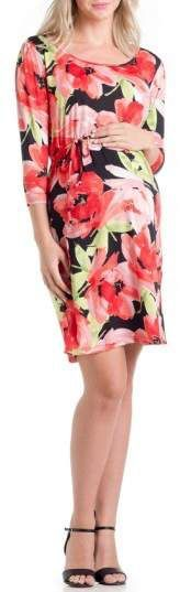 Looking for a pretty maternity dress? Check out this floral Print Maternity Dress! #ad | maternity dress  | maternity clothes | maternity tops | pregnancy | affordable maternity |