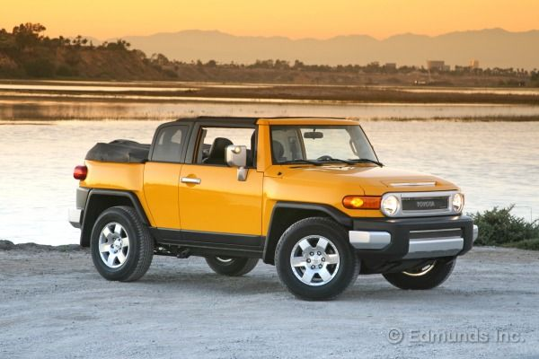 The Toyota FJ Cruiser gets even better if you slice off the top and turn it into a big, yellow beach cruiser, just like Newport Convertible Engineering does.