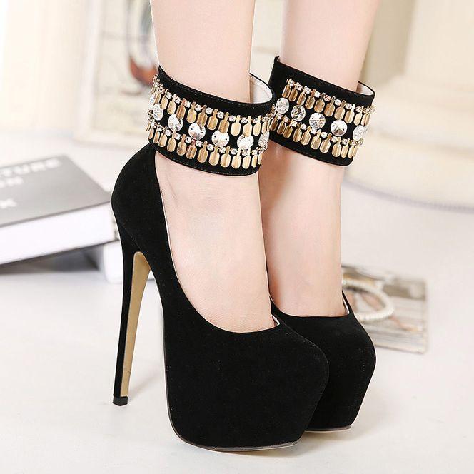 zapatos altos de mujer de moda plataforma negros - Buscar con Google