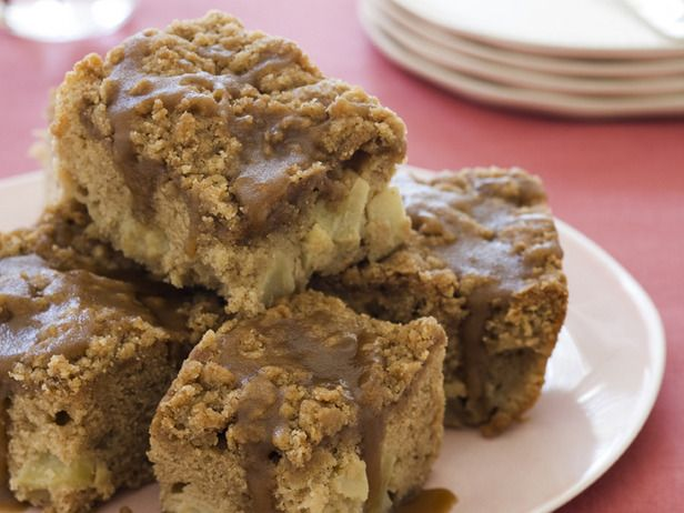 Apple Coffee Cake with Crumble Topping and Brown Sugar Glaze....making this for a staff breakfast!
