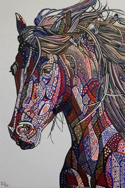 Abstract Horse 7 (Sculptural) by Paula Horsley