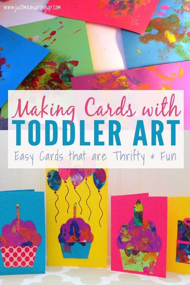 Making Cards With Toddlers Creating Greeting Cards From Toddler Art Simple Birthday Cards Grandma Birthday Card Homemade Birthday Cards