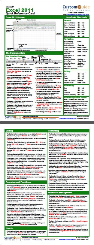 Excel 2007 formula cheat sheet pdf office 365 cheat for Cheat sheet template excel