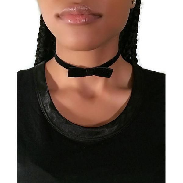 Black Velvet Bow Tie Choker – JV Accessories