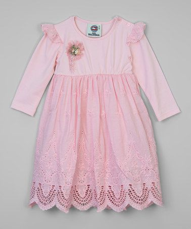 Another great find on #zulily! Pink Eyelet Rosette Dress - Infant #zulilyfinds