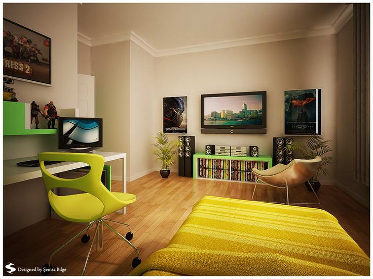 Home Design And Interior Design Gallery Of Bedrooms Contemporary Teenage  Bedroom Painting Idea With Home Theather