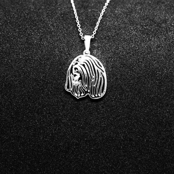 Check out Bearded Collie jewelry pendant-Sterling Silver-Personalized Pet Necklace-Dog lover gift-Custom Dog Necklace-Pet Memorial Gift-Dog Mom Gift on jewelledfriend