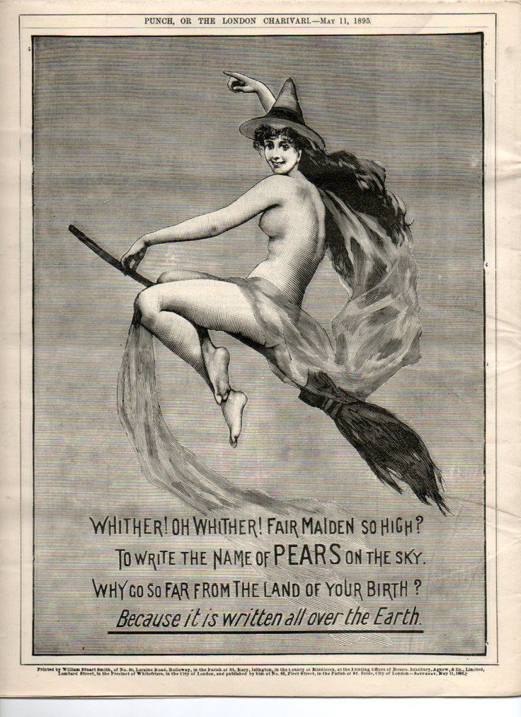 Victorian Pears soap advertisement