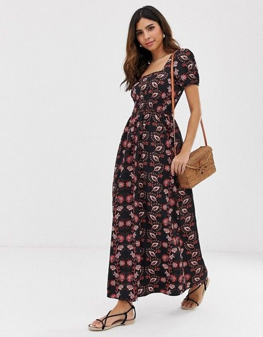94f8704dd475 Vero Moda square neck paisley print maxi dress in 2019 | Dresses ...
