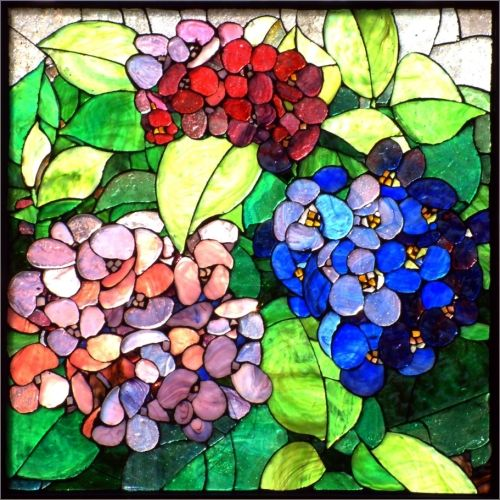 Hortensia mosaic.
