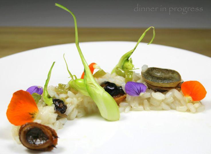 Collaborazioni – Amo il mare a Milano: risotto al limone con patelle e puntarelle saltate   Dinner in Progress