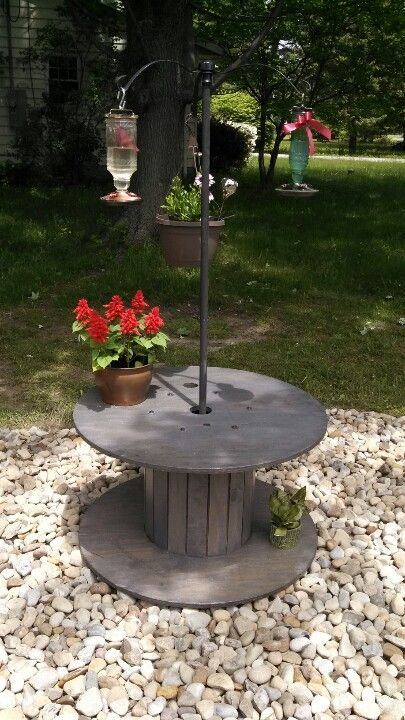My new hummingbird garden courtesy of my wonderful husband!