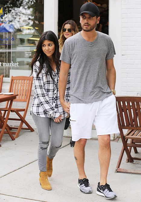Kourtney Kardashian and Scott Disick in the Hamptons on June 12