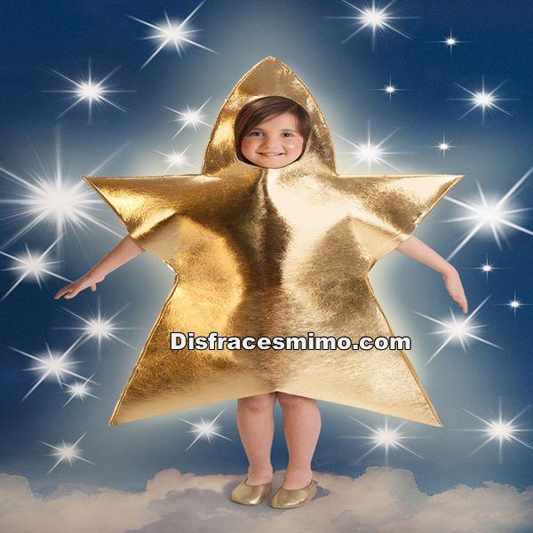 disfraz de estrella dorada infantil a aospara nios y nias
