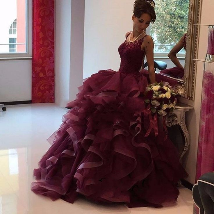 Cheap prom dresses 2017,2017 Burgundy Lace Prom Dresses,