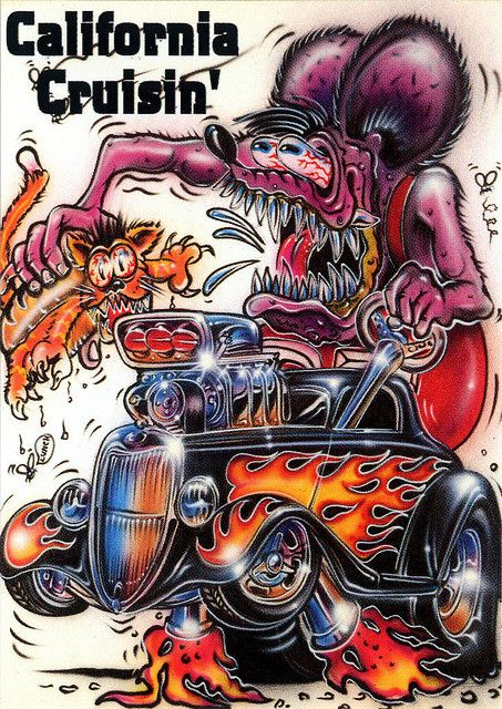 Rat Fink Ed Big Daddy Roth - California Cruisin