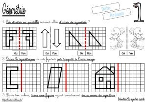 La sym trie axiale tracer le sym trique cm g om trie les fiches d 39 exercices math matiques - Symetrie a imprimer ...