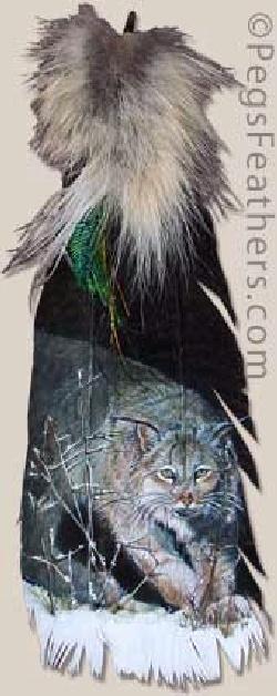 Peg Fennimore feather art