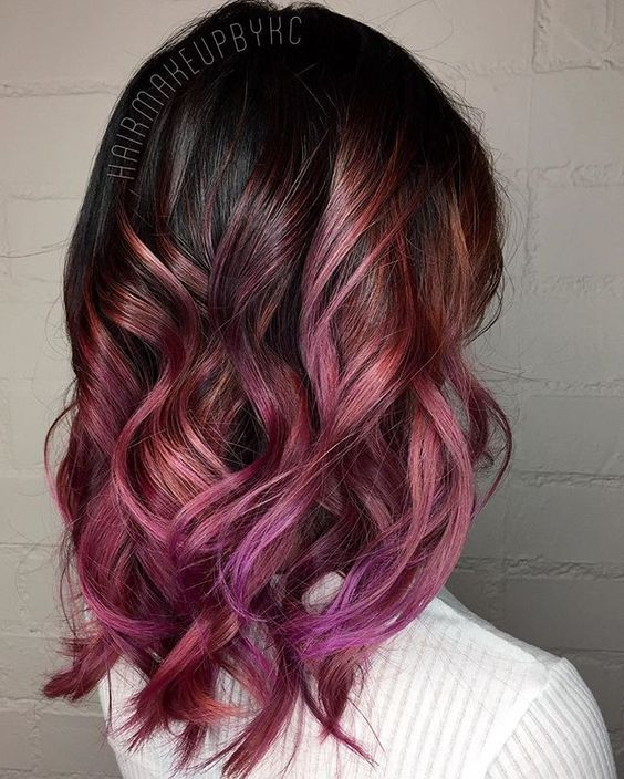 Purple And Blue Tips On Brown Hair Www Pixshark Com