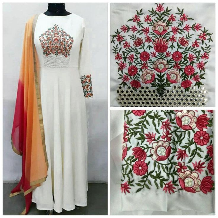 Indian salwar kameez dupatta pakistani embroidery Suit sale buy ladies Anarkali  | eBay