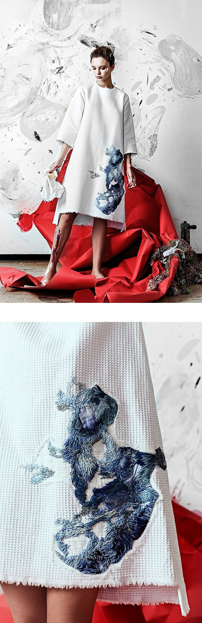 """Olya Glagoleva's brand GO in collaboration with Russian artist Lisa Smirnova for the """"Artist at Home"""" collection"""