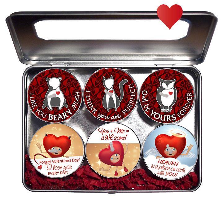 Liebesbotschaften 6er-Box Überaschungskerzen