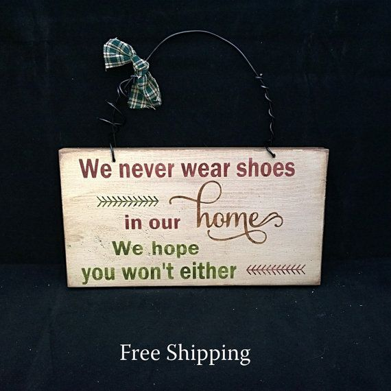 FREE SHIPPING. Shoes Off Sign. Remove shoes by HeartspokenByKim