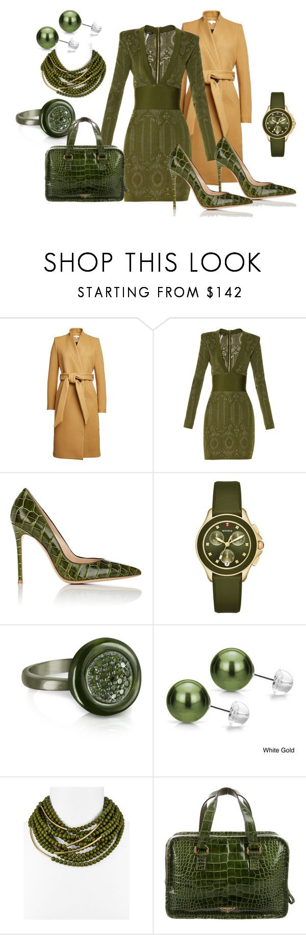 """Untitled #1225"" by deirdre35 ❤ liked on Polyvore featuring IRO, Balmain, Gianvito Rossi, Michele, Azhar, DaVonna, Fairchild Baldwin and Prada"