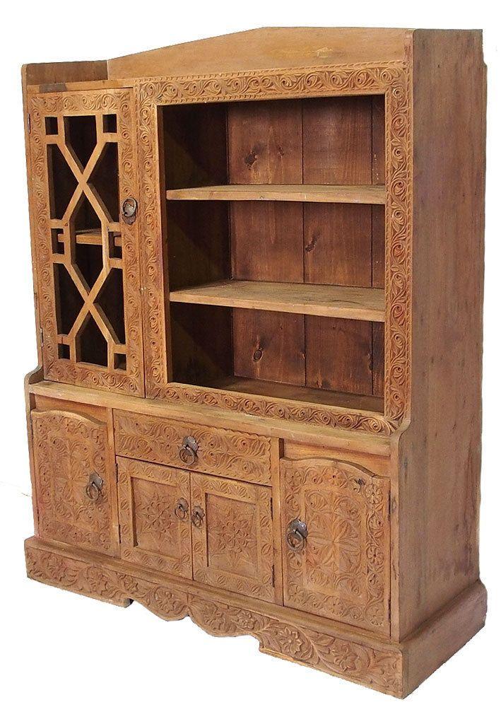 Antik Orient Massivholz Wohnzimmerschrank Schrank Kommode Buffet Cabinet Nr 26