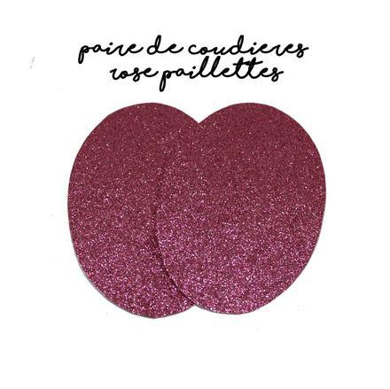 ★ ★  Paire de coudières en simili cuir à paillettes★ ★   Couleur : Rose vif Dimension : 12 x 8cm environ Idéal pour la customisation de tous vos pulls, vestes et T-S - 9106539