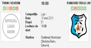 Turnu Severin – Pandurii avancronica si pronostic (12.05.2013)