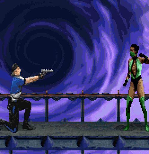Stryker, your gun is bloody rubbish.Ultimate Mortal Kombat 3, SNES.