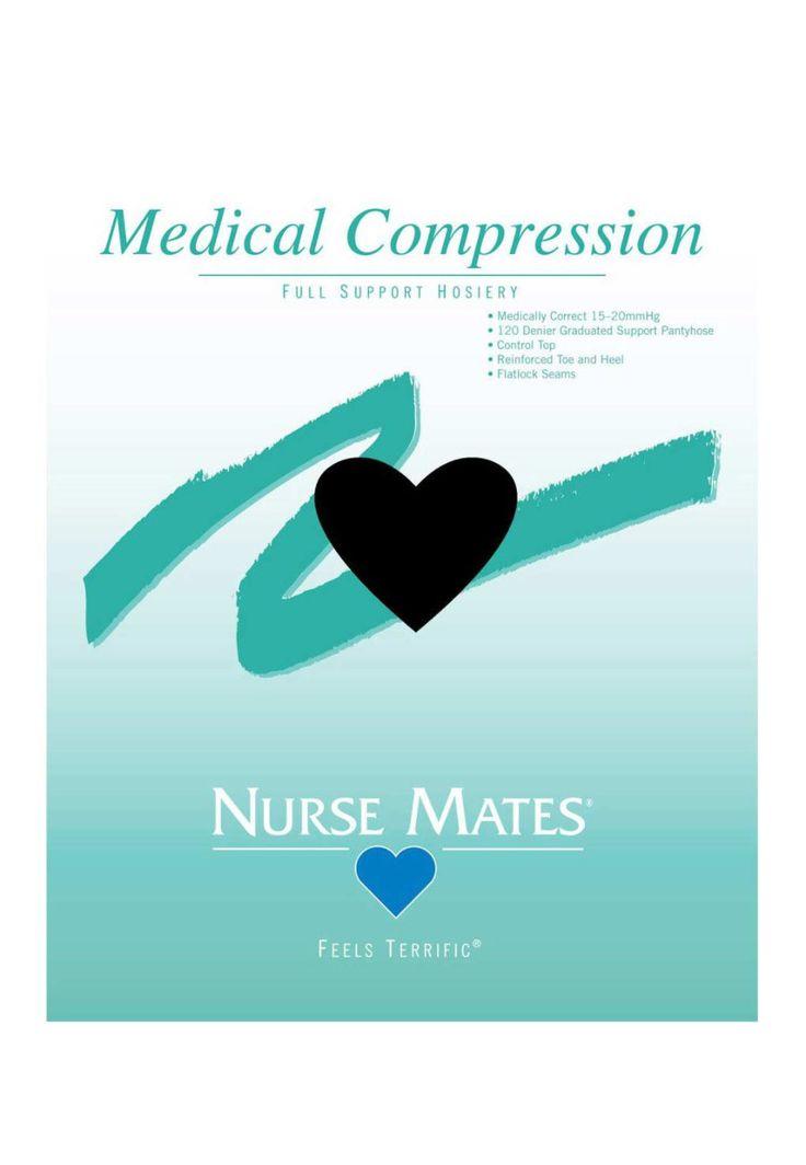 Nurse Mates Medical Compression Pantyhose - Black - A: Medical Compression Hose feature a… #NursingScrubs #MedicalScrubs #DiscountScrubs