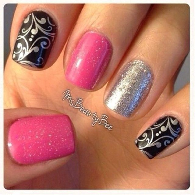 352 best nail stamp silver images on pinterest stamping nail art instagram post by dicas e inspiraes de beleza petaleatelie black silver nailssilver prinsesfo Gallery