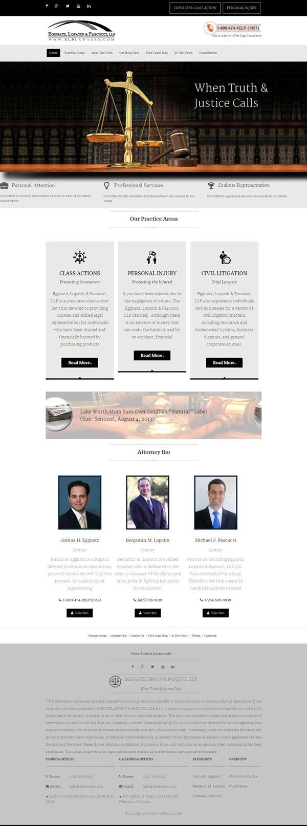 law firm website design – ELP Lawyers on Behance
