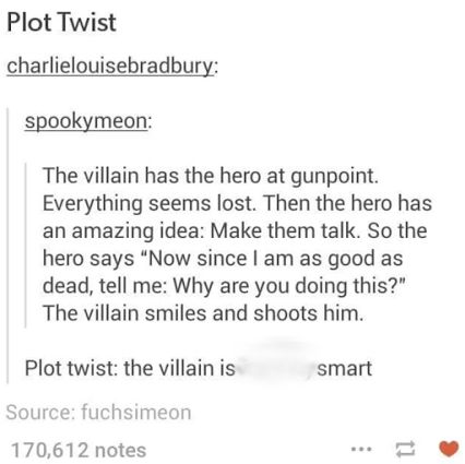 woah the villain is actually smart