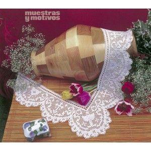 Para los más devotos, en Muestras y Motivos tenemos esta preciosa puntilla tejida a crochet con motivos religiosos. #muestrasymotivos #puntillas #religión #crochet
