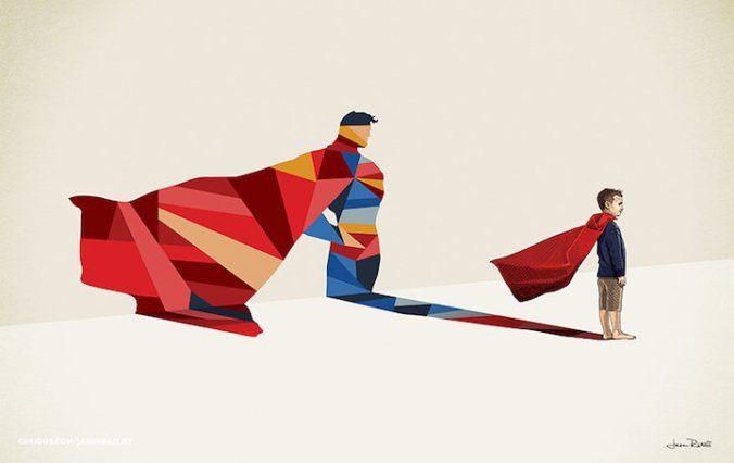 Super Sombras revelam seu herói interno - Superman