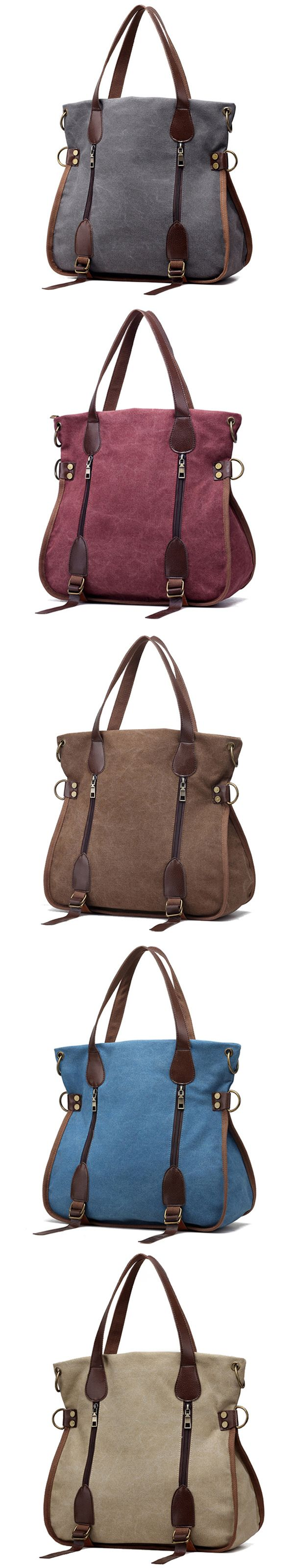 US$22.67  Women Canvas Vintage Handbag Retro Shoulder Bag Schoolbag