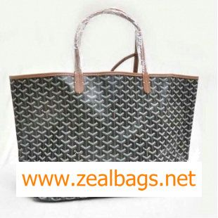 Replica Goyard St Louis Tote GM 2376 Black With Tan