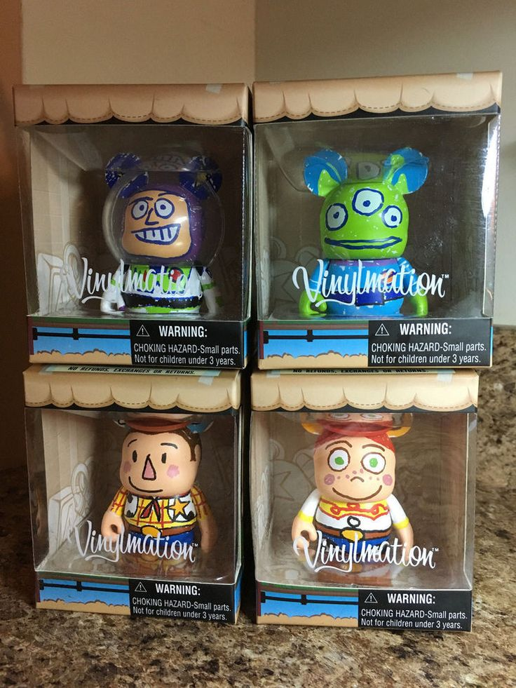 "TOKYO JAPAN DISNEY 3"" TOY STORY MANIA VINYLMATION - BUZZ, JESS, WOODY & ALIEN"