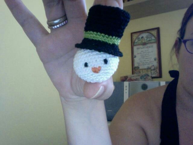 Snowman amigurumi crochet