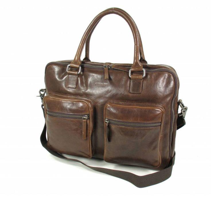 Burkely Schoudertas : Burkely schoudertas business tas renegade bruinu heeft een