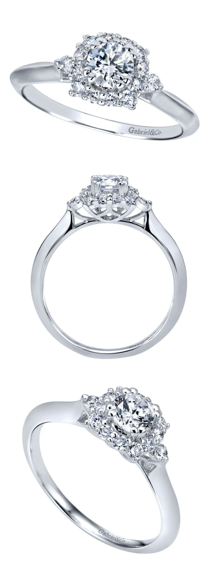 This pre-set diamond engagement ring is one of our signature pieces. It's ready for your hand immediately.