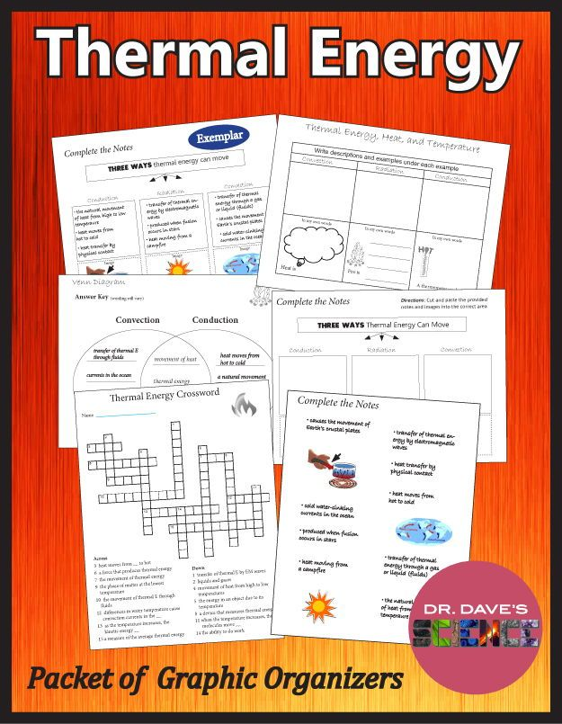 Thermal Energy Worksheets Graphic Organizers Energy Worksheets Thermal Energy Physical Science