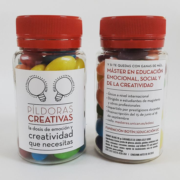 Creative pills. Sweets. Jelly beans.