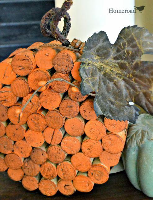 Calabaza hecha con corchos de vino - DIY Wine Cork Pumpkin