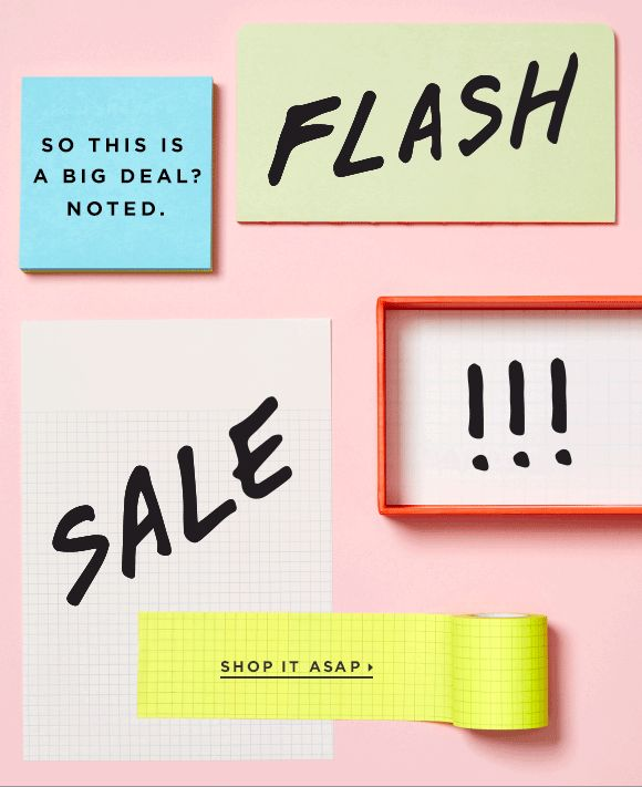 Loft: FLASH SALE. Make a note of it. | Milled