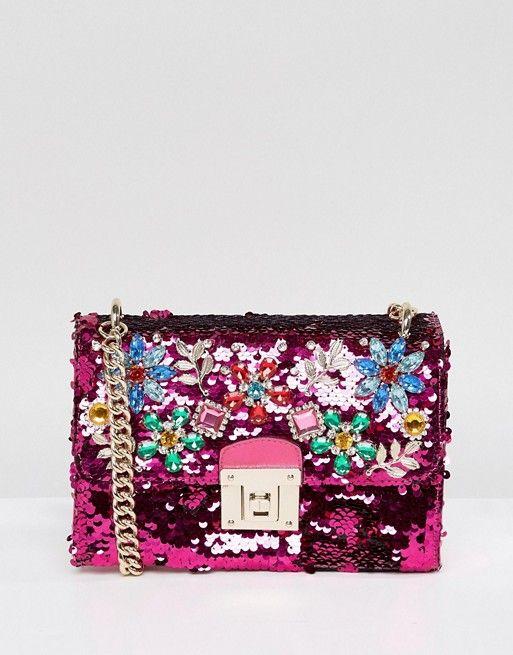 c403532cb93 ALDO | ALDO All Over Sequin Cross Body Bag with Floral Gem Embellishment |  Prom ideas | Aldo handbags, Floral shoulder bags, Bags