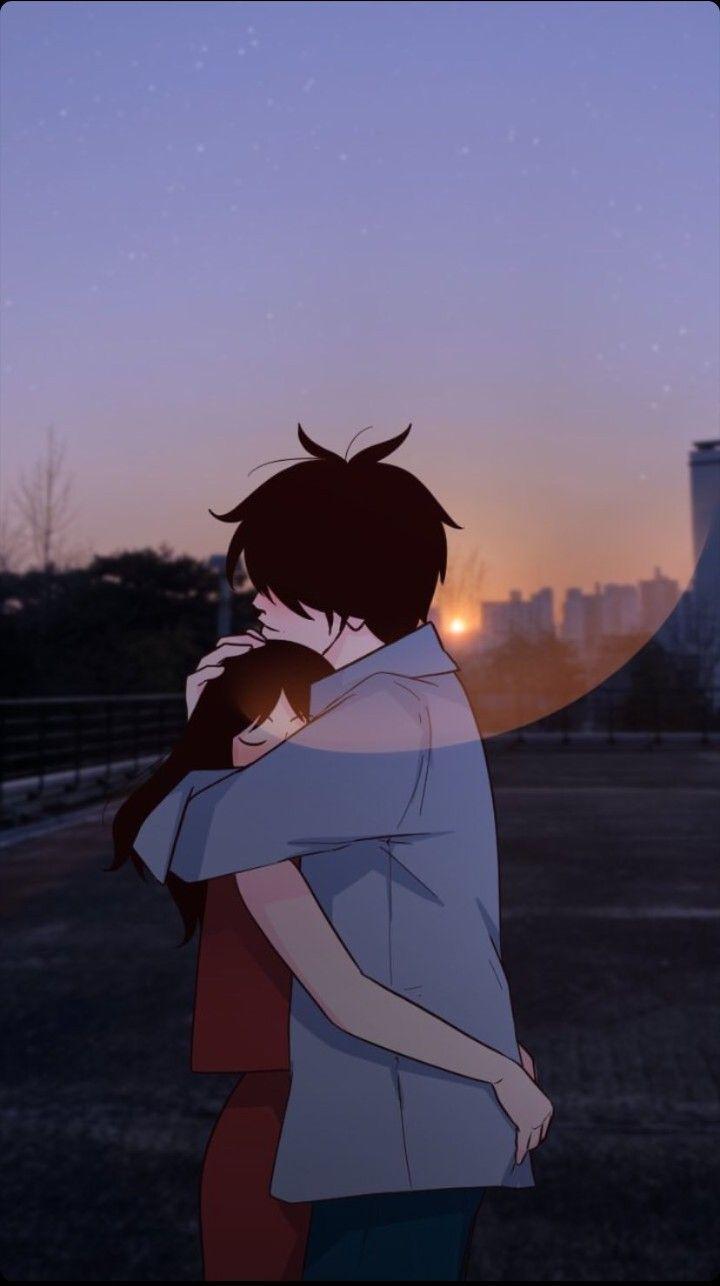 Tweening Wallpaper Couple Lockscreen Webtoon Ilustrasi Anime couple lock screen wallpaper
